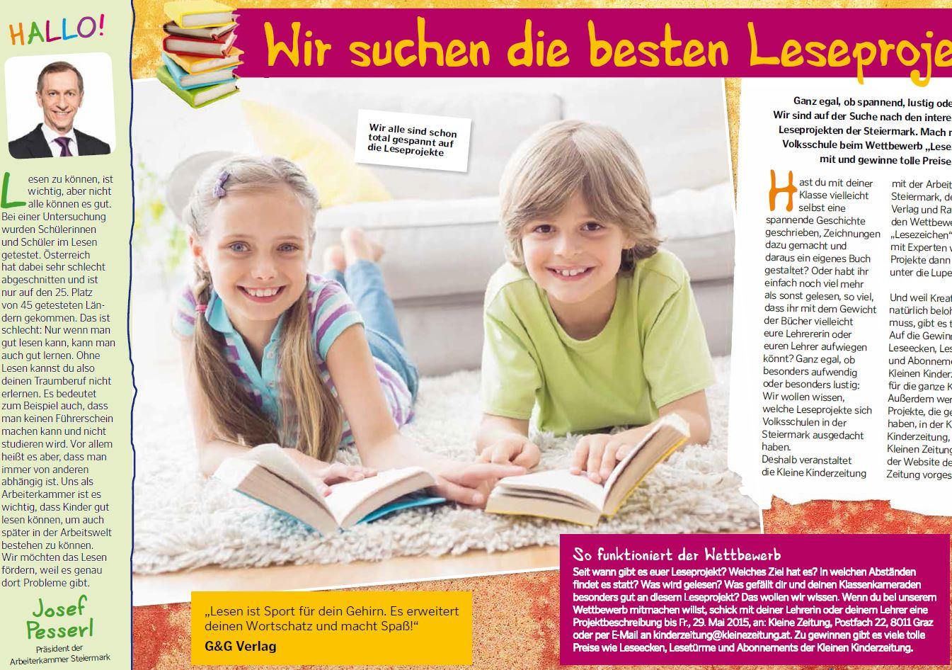 Kleine Kinderzeitung Schulwettbewerb