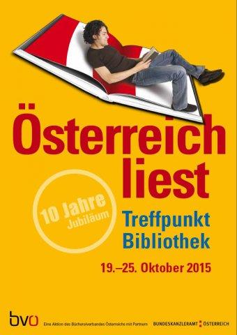 Österreich liest. Treffpunkt Bibliothek - vom 19. bis 25. Oktober