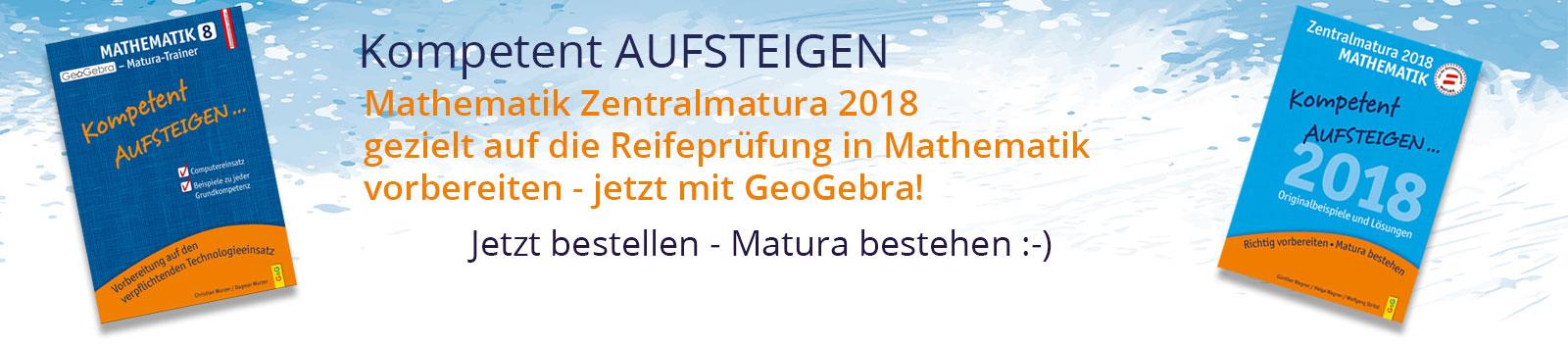 Zentralmatura 2018 mit GeoGebra
