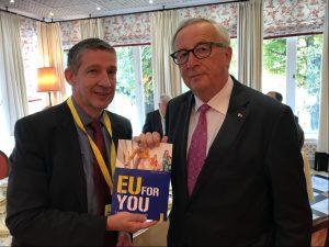 Wolfgang Böhm mit Jean-Claude Juncker