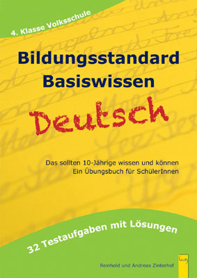 Produktcover: Bildungsstandard Deutsch Basiswissen 4. Klasse Volksschule