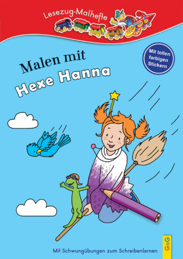 Produktcover: LESEZUG/ Malbuch: Malen mit Hexe Hanna