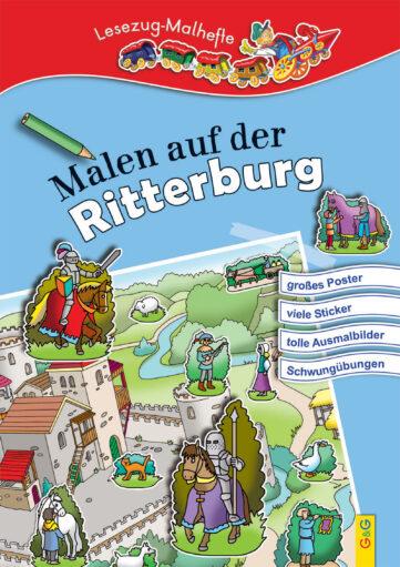 Produktcover: LESEZUG/ Malbuch: Malen auf der Ritterburg