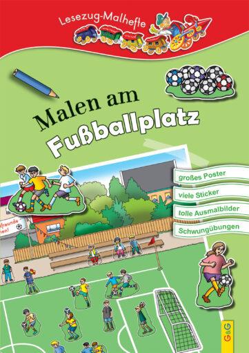 Produktcover: LESEZUG/ Malbuch: Malen am Fußballplatz