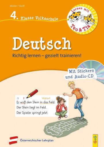 Produktcover: Lernen mit Teo und Tia Deutsch – 4. Klasse Volksschule mit CD
